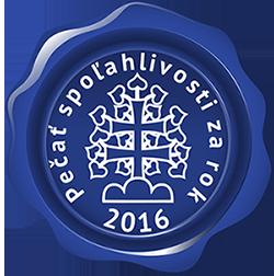 Modrá pečať spoľahlivosti 2016