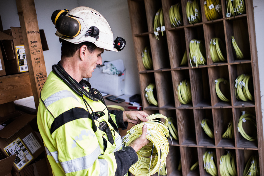 Výstavba podmorského tunela Solbakk v Nórsku